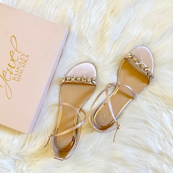7c43a4432 Jewel Badgley Mischka Tessy Embellished Sandals